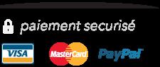 Paiements sécurisés par Paypal et carte bancaire